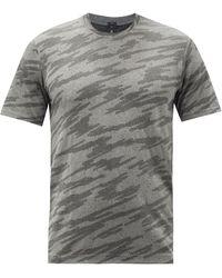 lululemon athletica Metal Vent 2.0 Printed Silverescent®-mesh T-shirt - Black