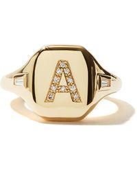 SHAY Bague en or rose et diamants Initial (A-I) - Métallisé