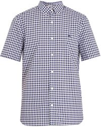 Burberry - Short-sleeved Gingham Cotton Shirt - Lyst