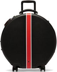 OOKONN Front-stripe Circular Check-in Suitcase - Multicolour