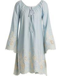 Athena Procopiou - Gypset Floral Embroidered Cotton Dress - Lyst