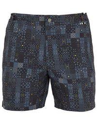 Danward - Mosaic-print Swim Shorts - Lyst