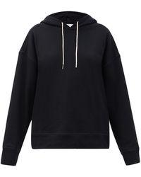 Jil Sander Organic-cotton Jersey Hooded Sweatshirt - Black