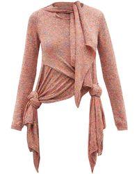 Loewe スパンコール ノット セーター - ピンク
