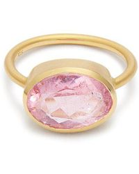 Irene Neuwirth - - Tourmaline & Rose Gold Ring - Womens - Pink - Lyst