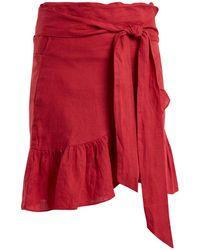 Étoile Isabel Marant | Tempster Linen Wrap Skirt | Lyst