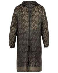 Fendi - - Logo Print Raincoat - Mens - Brown Multi - Lyst