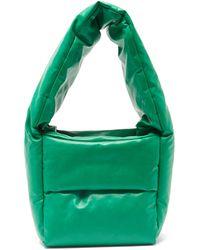 Kassl モンク スモール コーティングキャンバスバッグ - グリーン