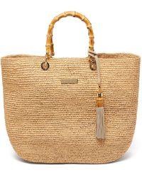 Heidi Klein Savannah Bay Medium Raffia Tote Bag - Natural