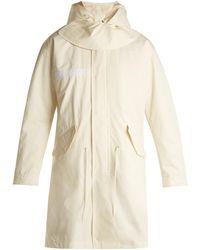 Helmut Lang | Shearling-trimmed Hooded Cotton Parka | Lyst