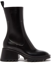 Chloé Betty Rubber Rain Boot - Black