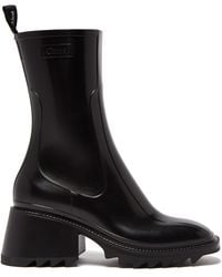 Chloé Black Betty - Pvc Rain Boots Sandals