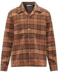 Our Legacy ヒューゼン チェック ウールブレンドシャツ - ブラウン