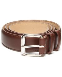A.P.C. - Topstitched Leather Belt - Lyst