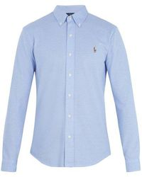 Polo Ralph Lauren - Oxford Logo-embroidered Cotton-piqué Shirt - Lyst