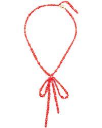 Simone Rocha - Bow Pendant Beaded Necklace - Lyst