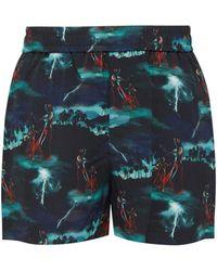 228b89a2 Polo Ralph Lauren Mens Hawaiian Shorts Black for Men - Lyst