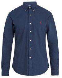 Polo Ralph Lauren - Logo-embroidered Oxford-cotton Shirt - Lyst