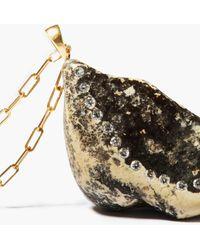 CVC Stones フィーリング ダイヤモンド 18kゴールドネックレス - メタリック