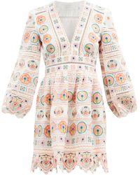 Zimmermann Brighton Broderie-anglaise Cotton Mini Dress - Multicolour