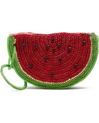 Sensi Studio - Watermelon Toquilla Straw Clutch - Lyst