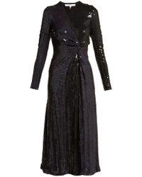Galvan London - Pinwheel Sequined Silk Dress - Lyst