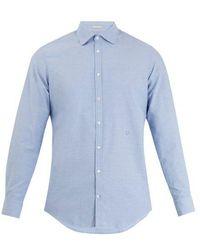 Massimo Alba - Spread-collar Cotton Shirt - Lyst