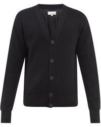Studio Nicholson V-neck Merino-wool Cardigan - Black