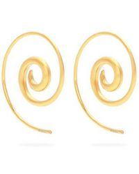 Rainbow Spiral coated yellow-gold earrings Noor Fares 03SkU