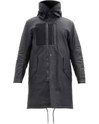 Stone Island Shadow Project Coated-linen Fishtail Parka - Black