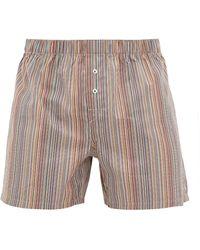 Paul Smith Signature Stripe Cotton Boxer Shorts - Multicolour