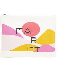 Isabel Marant Sunset-print Canvas Pouch - Pink