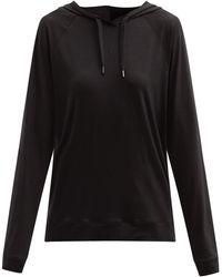 Derek Rose Sweat-shirt à capuche en modal mélangé Basel 1 - Noir