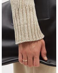 Tom Wood Infinity Slim Diamond & 9kt Gold Ring - Metallic