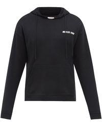 7 Moncler Frgmt Hiroshi Fujiwara Logo-print Cotton-jersey Hooded Sweatshirt - Black