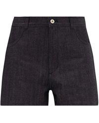 Jil Sander High-waist Denim Shorts - Blue