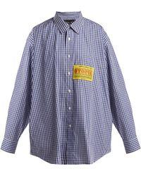 Martine Rose - Patch-appliqué Checked Cotton Shirt - Lyst