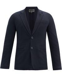 Giorgio Armani Single-breasted Felted-cashmere Blazer - Blue