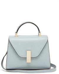 Valextra Iside Micro Grained-leather Bag - Blue