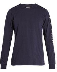Saturdays NYC - Strikethrough Long-sleeved Cotton T-shirt - Lyst