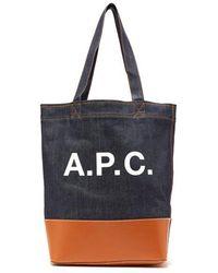 A.P.C. - - Axel Tote Bag - Mens - Camel - Lyst