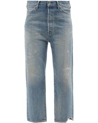 Chimala Distressed Straight-cut Jeans - Blue