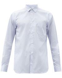 Comme des Garçons Comme Des Garçons Shirt フォーエバー ストライプ コットンポプリンシャツ - ブルー