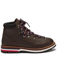Moncler - Peak Leather Ankle Boots - Lyst