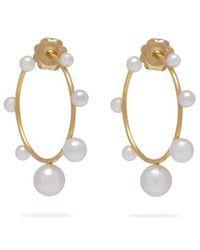 Irene Neuwirth - 18kt Gold & Akoya-pearl Hoop Earrings - Lyst