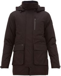 Nobis Technical Hooded Parka Coat - Black