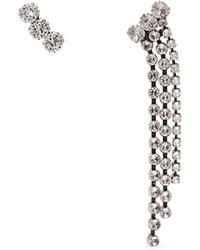 Isabel Marant - Strass Crystal-embellished Stud & Tassel Earrings - Lyst