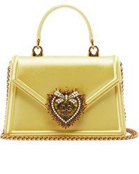 Dolce & Gabbana - Devotion Small Satin Handbag - Lyst