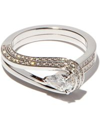 Repossi - Bague en or blanc et diamants Serti Inversé - Lyst