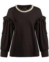 Simone Rocha - Faux Pearl-embellishment Jersey Sweatshirt - Lyst